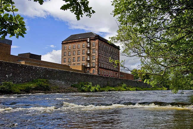 Deanston Whisky Distillery on the river Teith